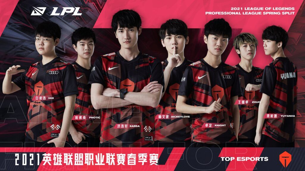 LPL team Top Esports, Spring 2021