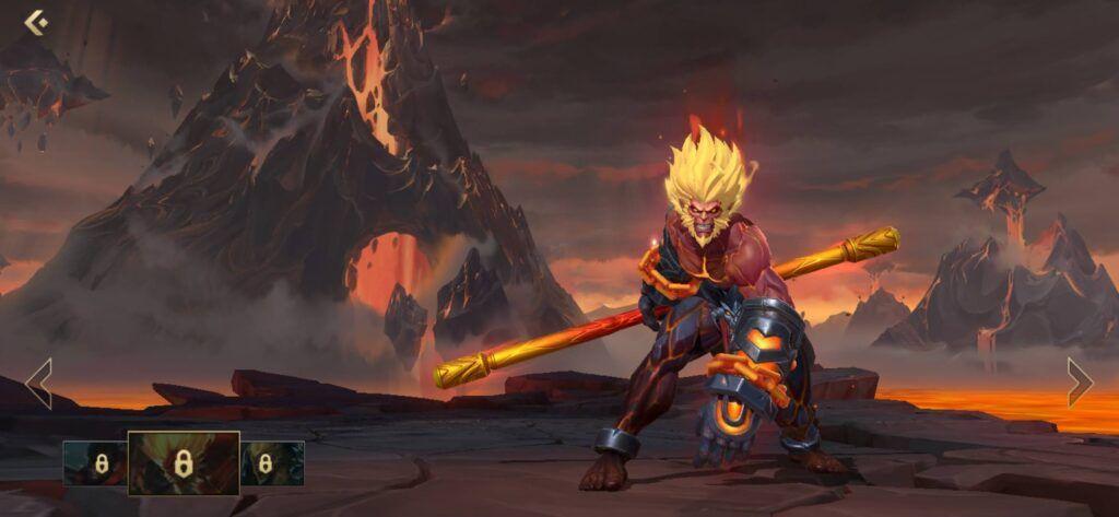 League of Legends: Wild Rift,Wukong, Volcanic Wukong skin