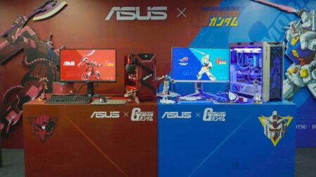 Display of both ASUS Gundam Models