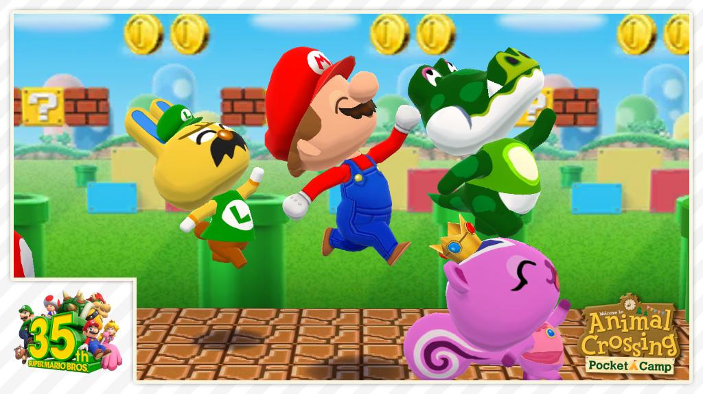 Animal Crossing: Pocket Camp, Super Mario Bros., Mar10 Day