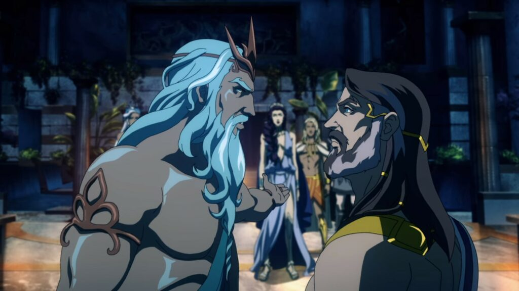 Screenshot of Poseidon and Zeus in Blood of Zeus