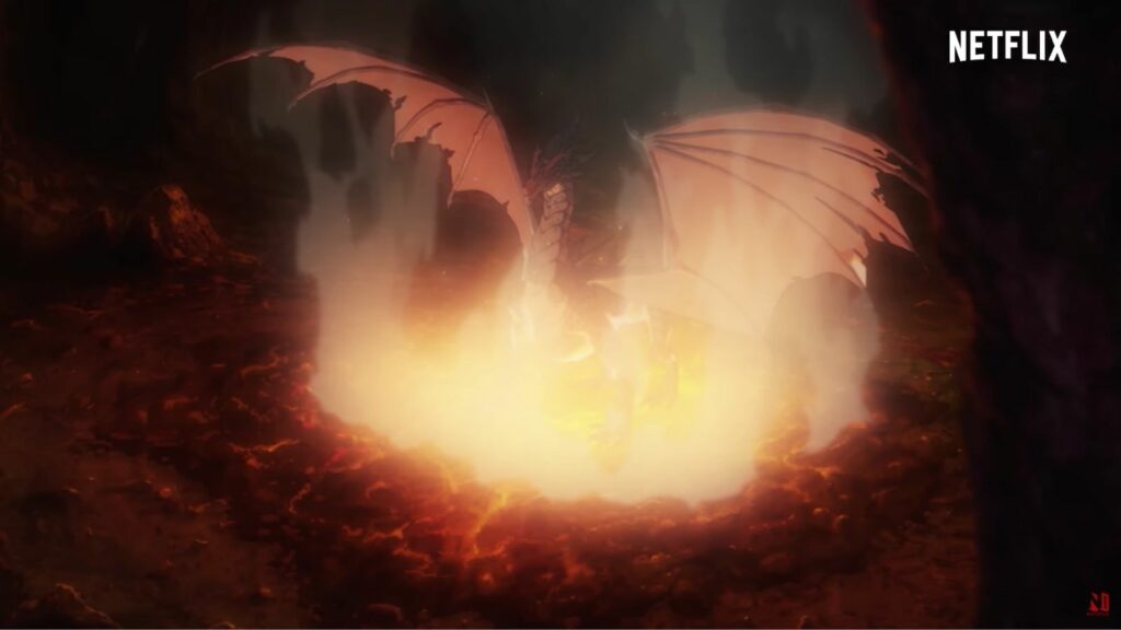 Slyrak the Father of Fire in the Dota: Dragon's Blood Netflix trailer