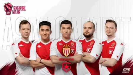 AS Monaco Gambit Dota 2 roster for ONE Esports Singapore Major