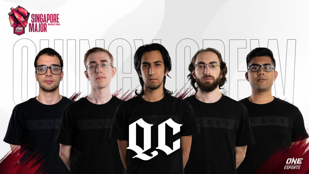 Quincy Crew at the ONE Esports Singapore Major
