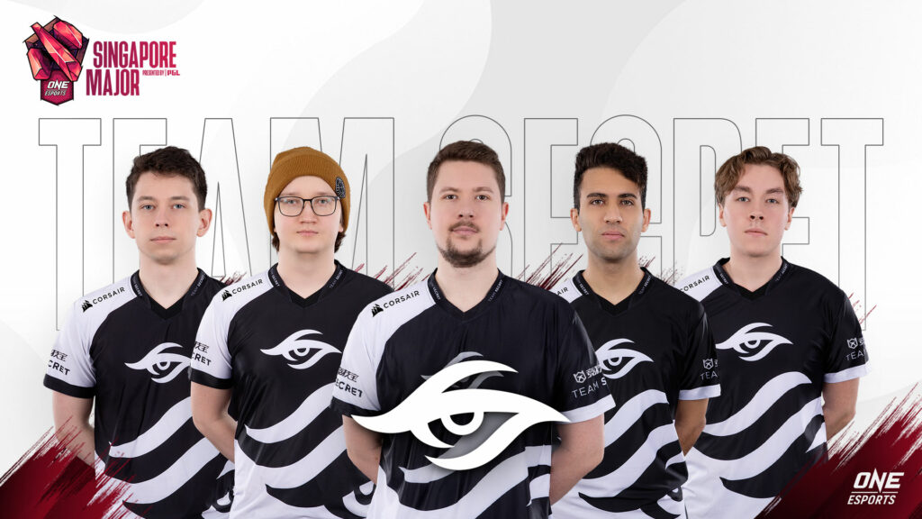 Team Secret at the ONE Esports Singapore Major