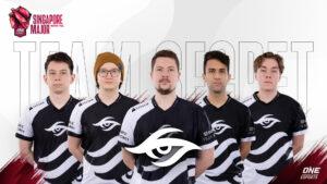 Team Secret at the ONE Esports Singapore Major