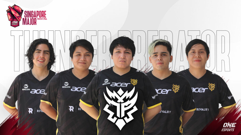 Thunder Predator at the ONE Esports Singapore Major