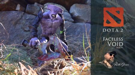 "Keith ""ThePaindog"" Glover sculpts Faceless Void"