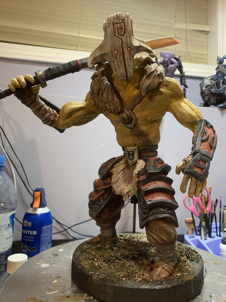 ThePaindog's sculpture of Juggernaut from Dota 2