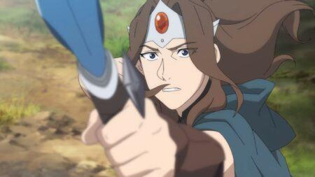 Mirana dawing her bow in Dota: Dragon's Blood
