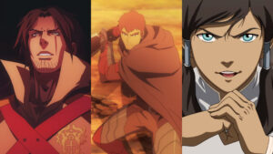 Screenshots of Legend of Korra, Castlevania, and Dota: Dragon's Blood