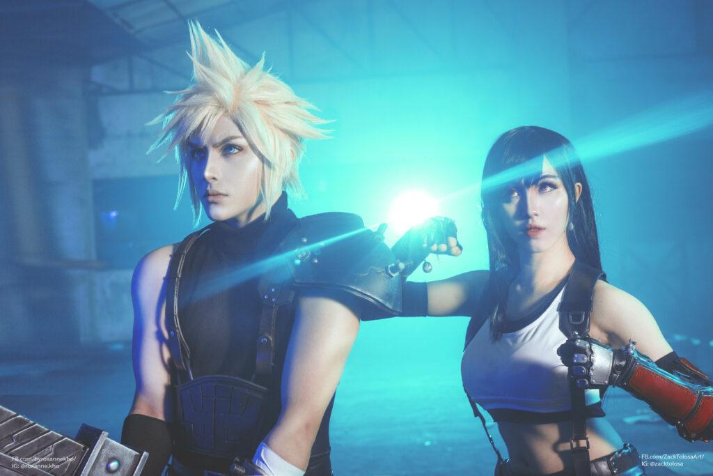 Final Fantasy VII, cosplay, Cloud Strife, Tifa Lockhart, Zackt, Roxanne Kho, Kira Hokuten