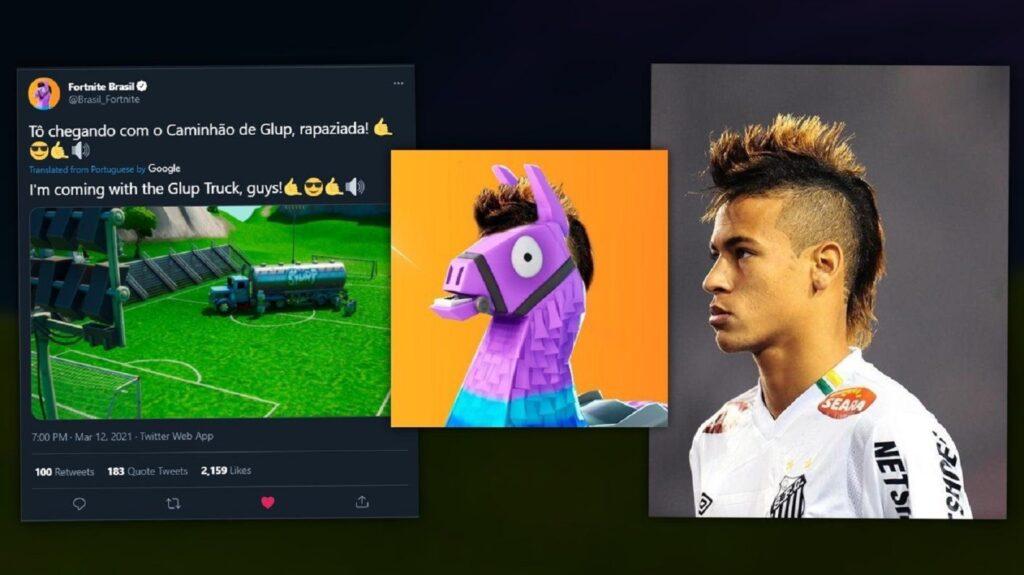 Fortnite, Neymar Jr., llama, Fortnite Brazil