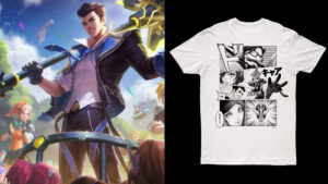 Battle Academia Jayce and Battle Academia t-shirt