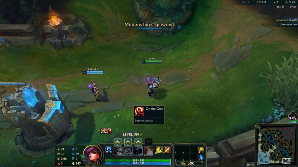 Screenshot of Caitlyn and Vi buff in League of Legends