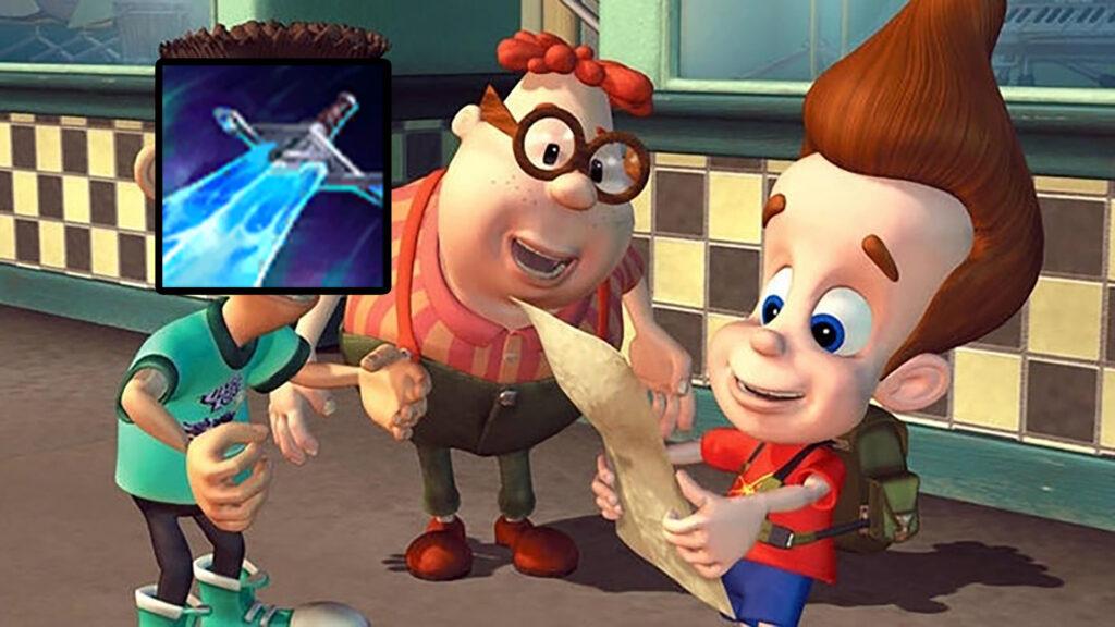 Screenshot of Jimmy Neutron with Sheen item of League of Legends