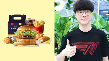 Side-by-side of Faker and McDonald's LCK Legend Pack