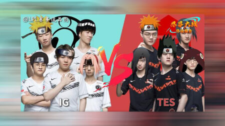 Invictus Gaming and Top Esports in Naruto meme