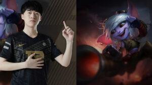 RNG Xiaohu and LoL champion, Tristana