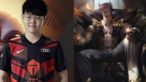 Top Esports top laner 369 and LoL champion Sett