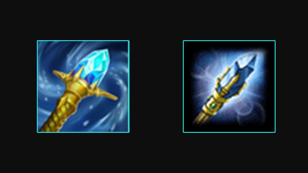 Side by side of Rylai's Crystal Scepter and Brillance Aura