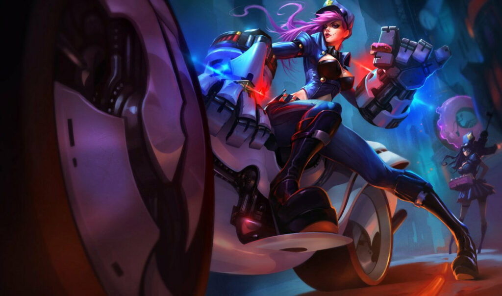 Splash Art of Officer Vi of League of Legends