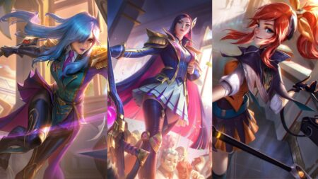 League of Legends, BAttle Academia Leona, Battle Academia Caitlyn, Battle Academia Lux