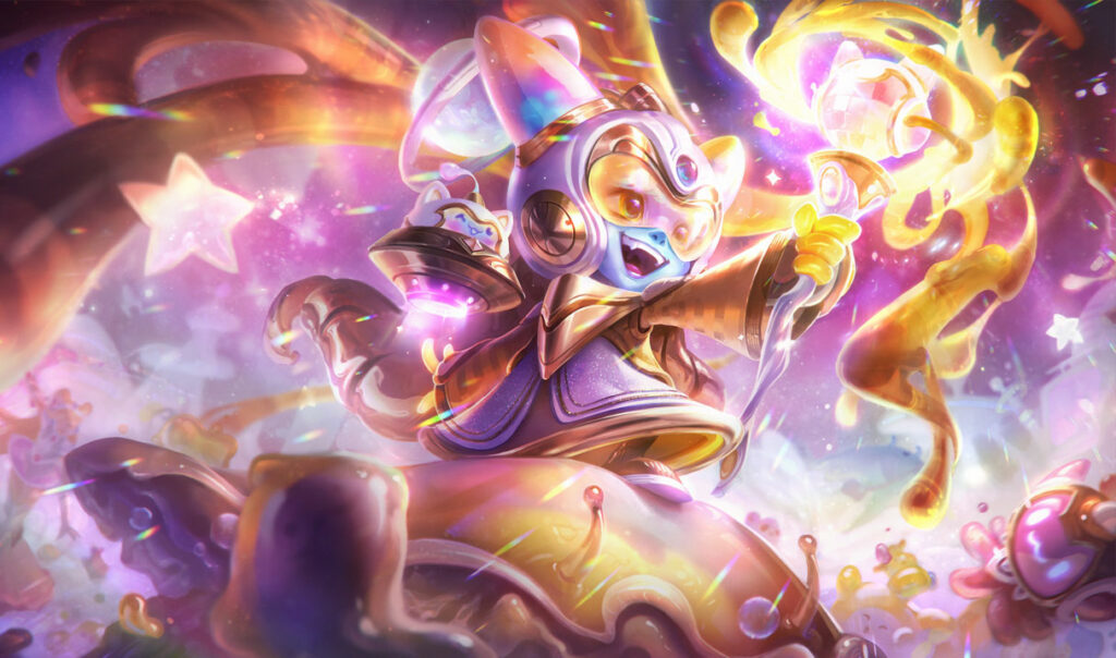 Prestige Space Groove Lulu, League of Legends, splash art
