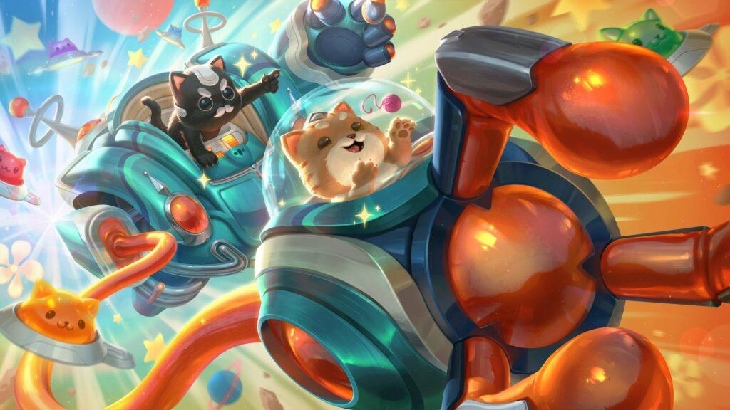 League of Legends, Space Groove, Blitzcrank, splash art