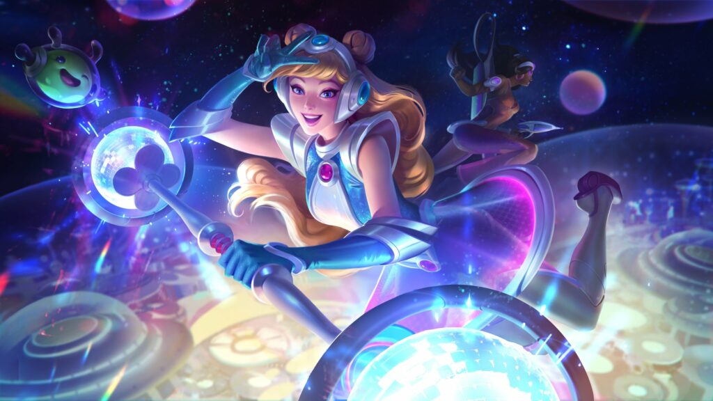 League of Legends, Space Groove, Lux, splash art
