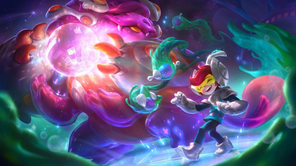 League of Legends, Space Groove, Nunu & willump, splash art
