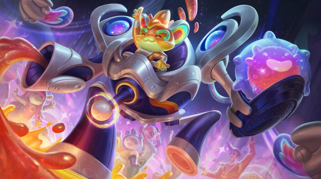 League of Legends, Space Groove, Rumble, splash art