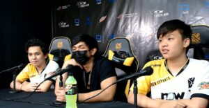 Mobile Legends: Bang Bang MPL PH press conference of Bren Esports with Duckey, KarlTzy, and FlapTzy