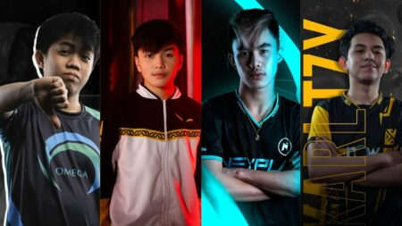 Mobile Legends: Bang Bang MPL PH players Yellyhaze, Kairi, Renejay, and KarlTzy