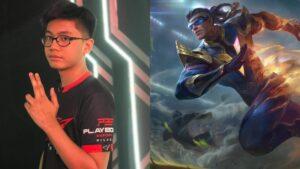 Mobile legends: bang bang laus playbook esports player aspect and hero, bruno