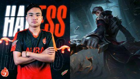 Mobile Legends: Bang Bang Aura PH player Lord Hadess, and hero Granger