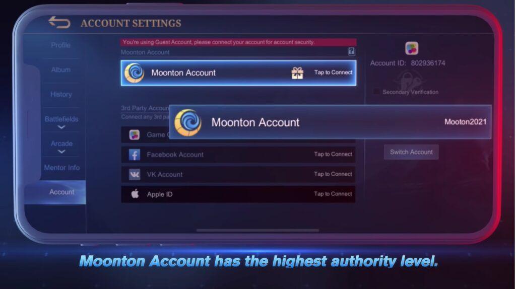 Mobile Legends: Bang Bang Moonton Account