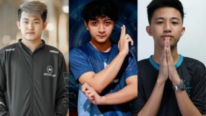 Mobile Legends: Bang Bang rookies, Oheb, Kelra, and Jeymz