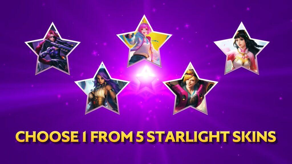Mobile Legends: Bang Bang starlight skin perks