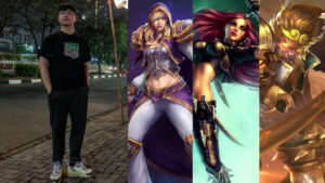 Zeys, Jaina, Katarina, and Wukong