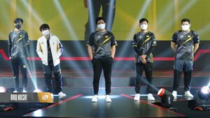 RRQ Hoshi on stage during Week 3 of MPL ID S7