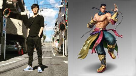JDCR next to Feng Wei of Tekken 7