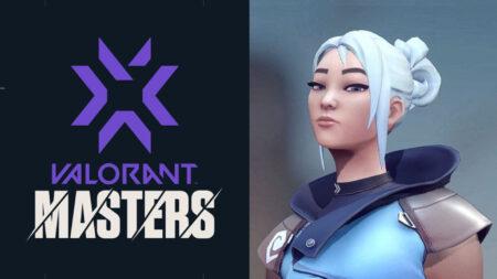 Valorant Masters logo and agent Jett
