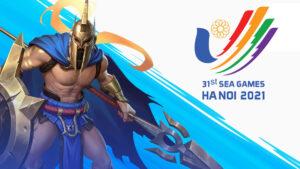League of Legends: Wild Rift Pantheon and Southeast Asian Game 2021 logo