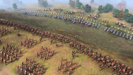 Screenshot of a Battle in Age of Empire IV