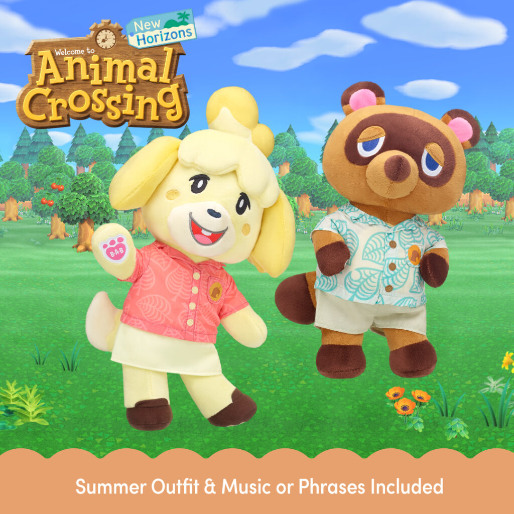 Animal Crossing: New Horizons, Isabelle, Tom Nook, Build-A-Bear