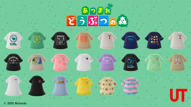 Animal Crossing: New Horizons, Uniqlo Shirt Designs