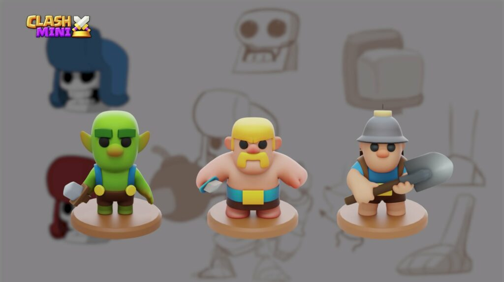 Clash Mini, Supercell, characters