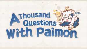 Banner of Thousand Questions with Paimon from Genshin Impact