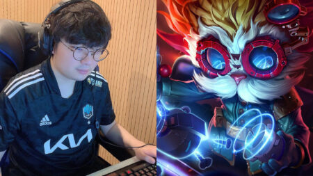 Side by side of BeryL of DWG KIA and Heimerdinger of League of Legends